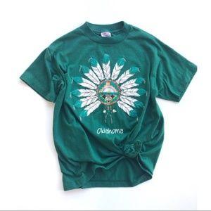 Vintage Oklahoma Graphic T Shirt Dreamcatcher L